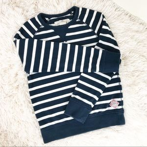 LOGG by H&M Navy Blue and White Striped Sweater